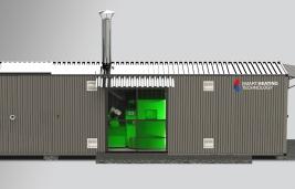 Micro cabin with silo